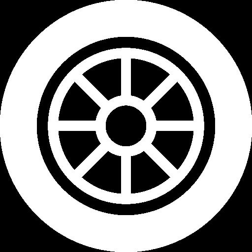 White car wheel icon