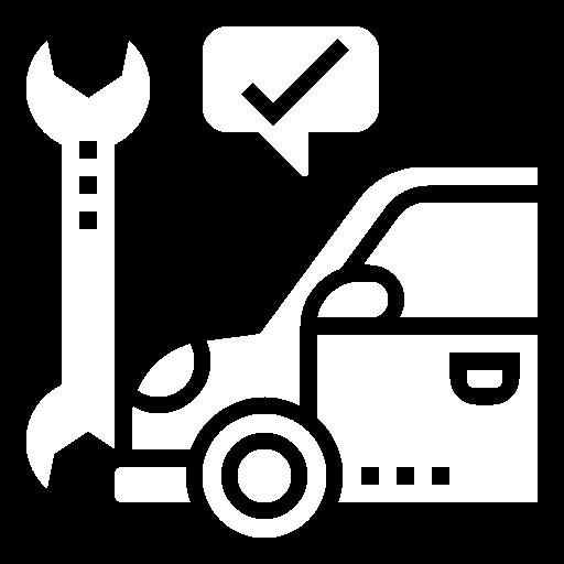 White car fixed icon
