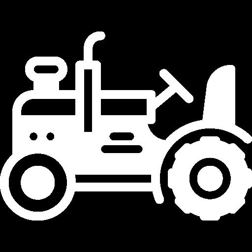 White tractor icon